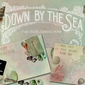 Down By The Sea Digital Journal Paper (7″x10″)