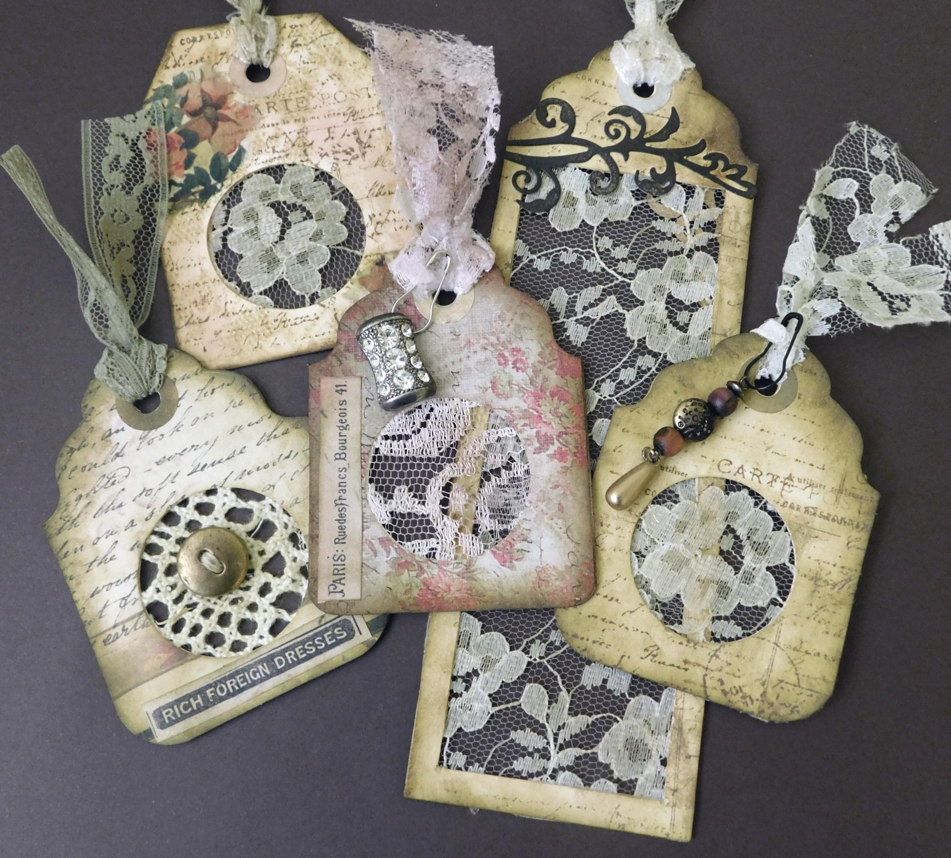 Lace Treasures – Scrapbusting – Tag Ephemera Project
