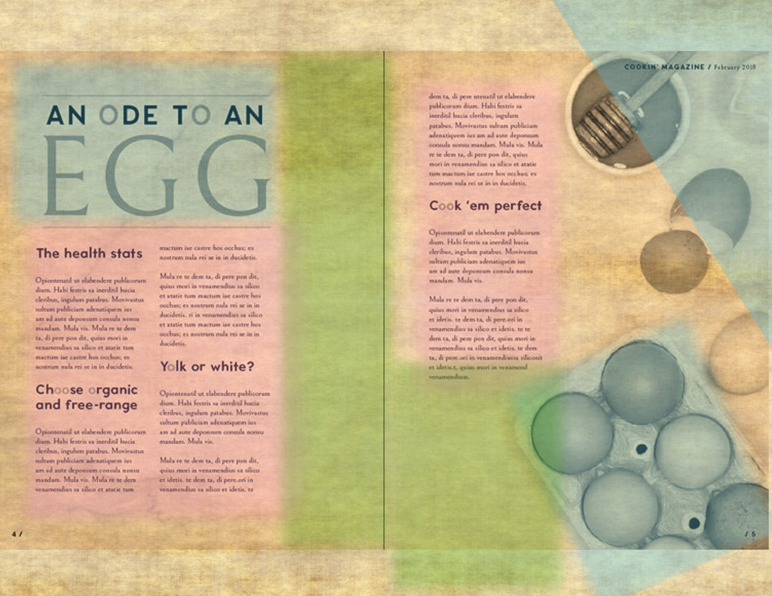 Journal Layout Inspiration: Using Magazine Spreads
