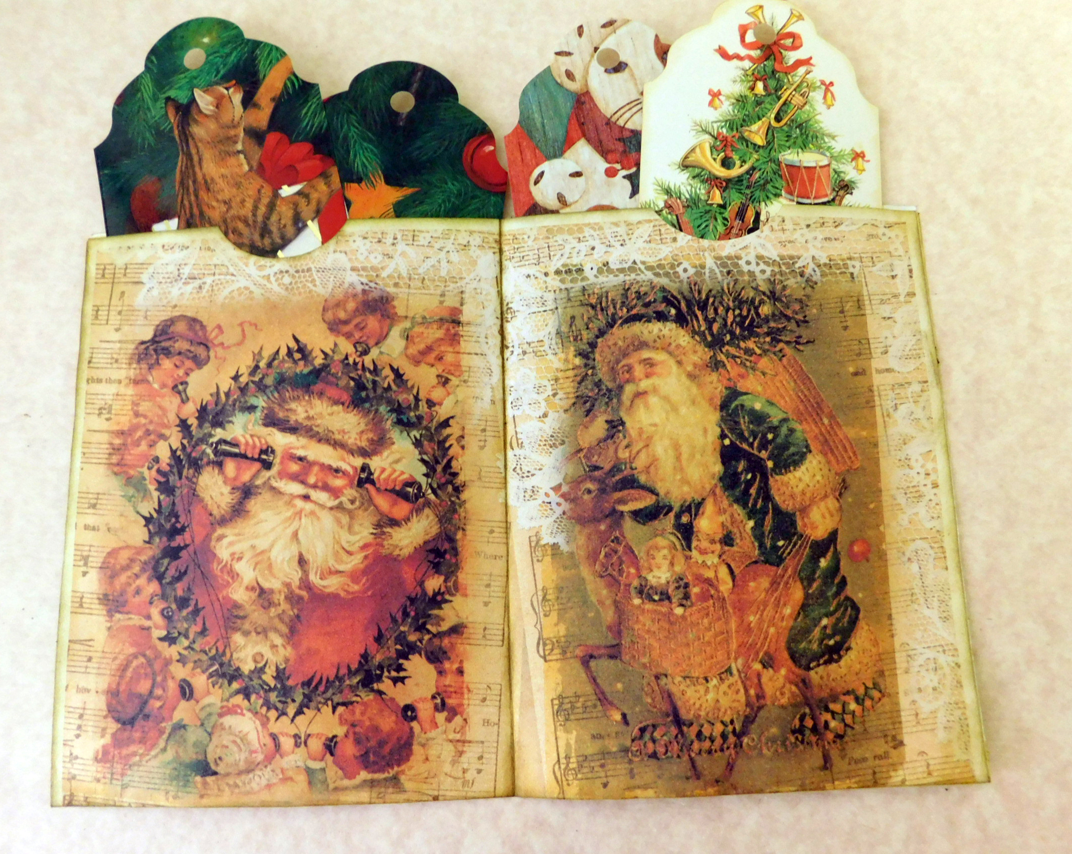 Vintage Santa Christmas Junk Journal Freebie