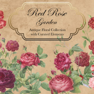 Red Rose Garden Floral Design Collection