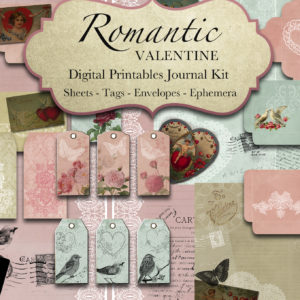 Romantic Valentine Digital Printables Collection