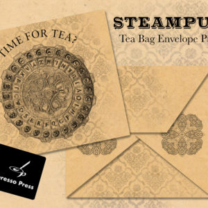 Steampunk Tea Bag Envelope Printable