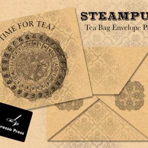 Steampunk Tea Bag Envelope Printable