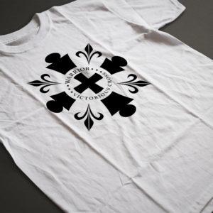 Warrior Victorious Cross T-Shirt Design