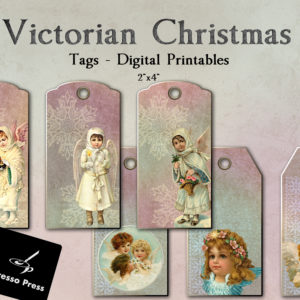 Victorian Christmas Tags Digital Printables