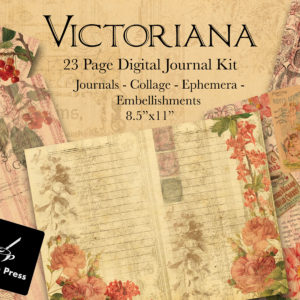 Victoriana Digital Journal Kit