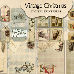 Vintage Christmas Digital Printables