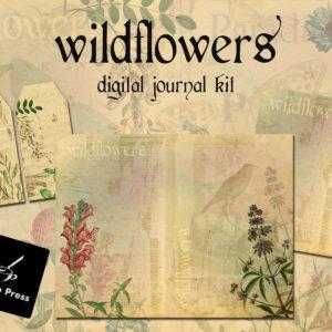 WildflowersDigitalJournalKitCover