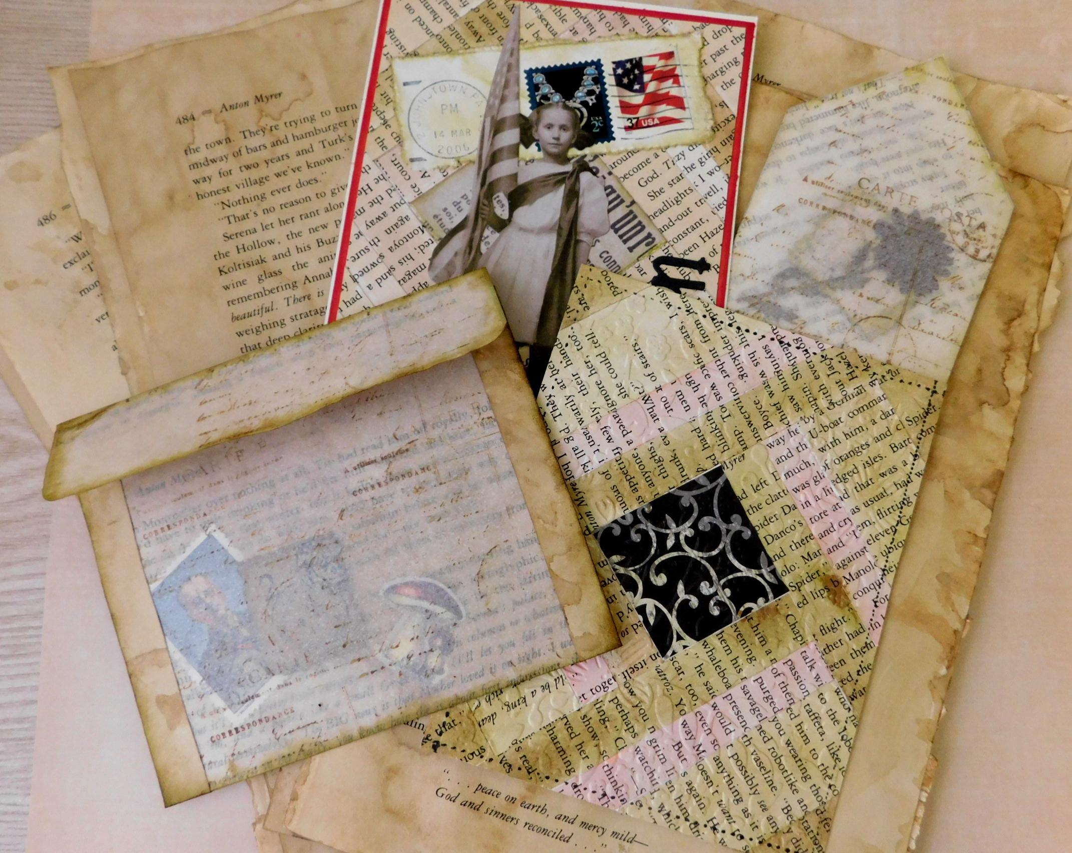 Book Page Ideas – Junk Journals – Envelopes – Tags – Ephemera