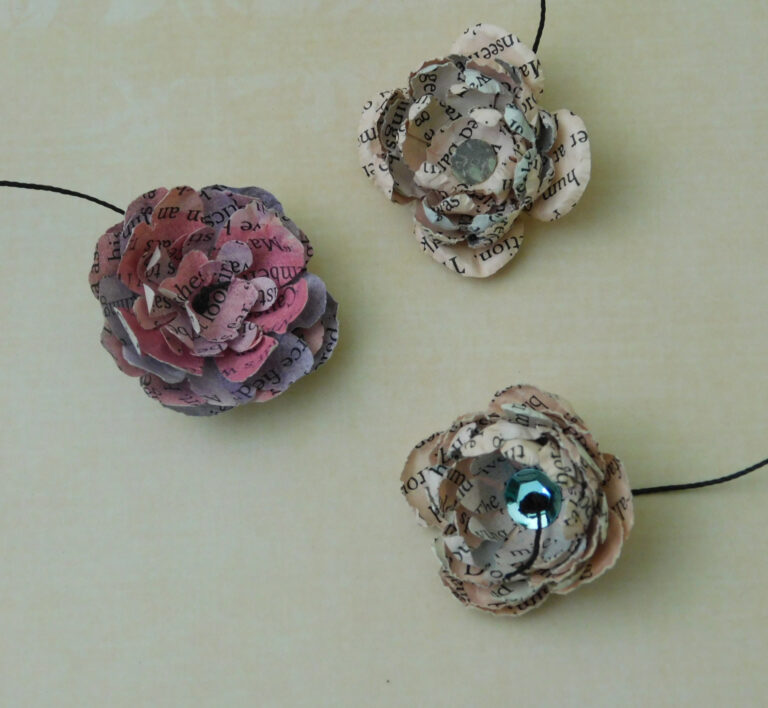 Shaped Paper Flowers – DIY Without A Die Cutting Machine
