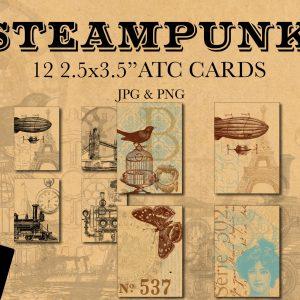 SteampunkATCCardsCover