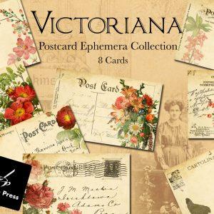 VictorianaDigitalPrintablePostcardsCover