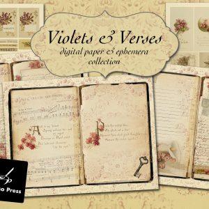 Violets&VersesDigitalPaperCoverEtsy
