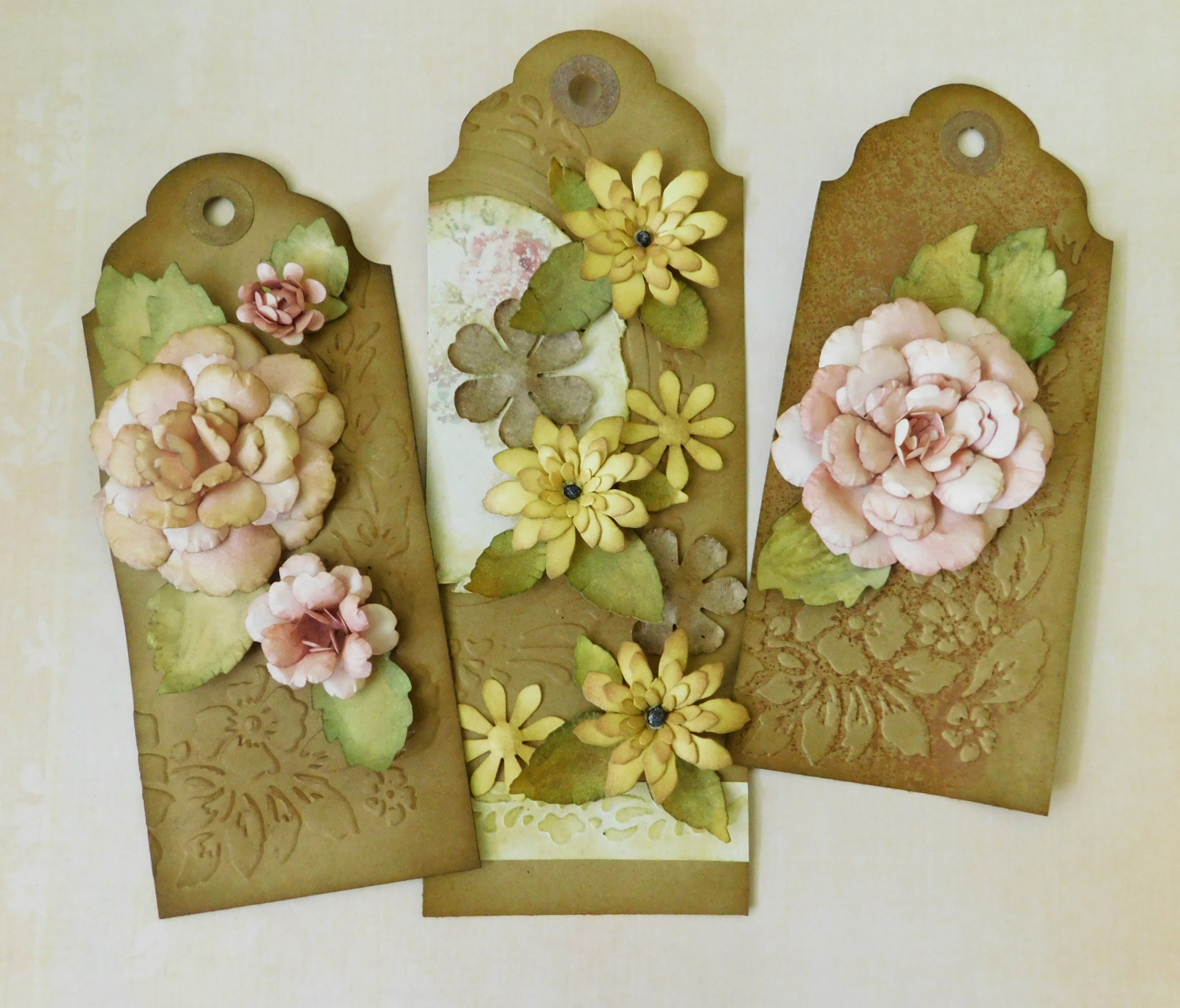 Floral Tags – Shaped Paper Flower Project