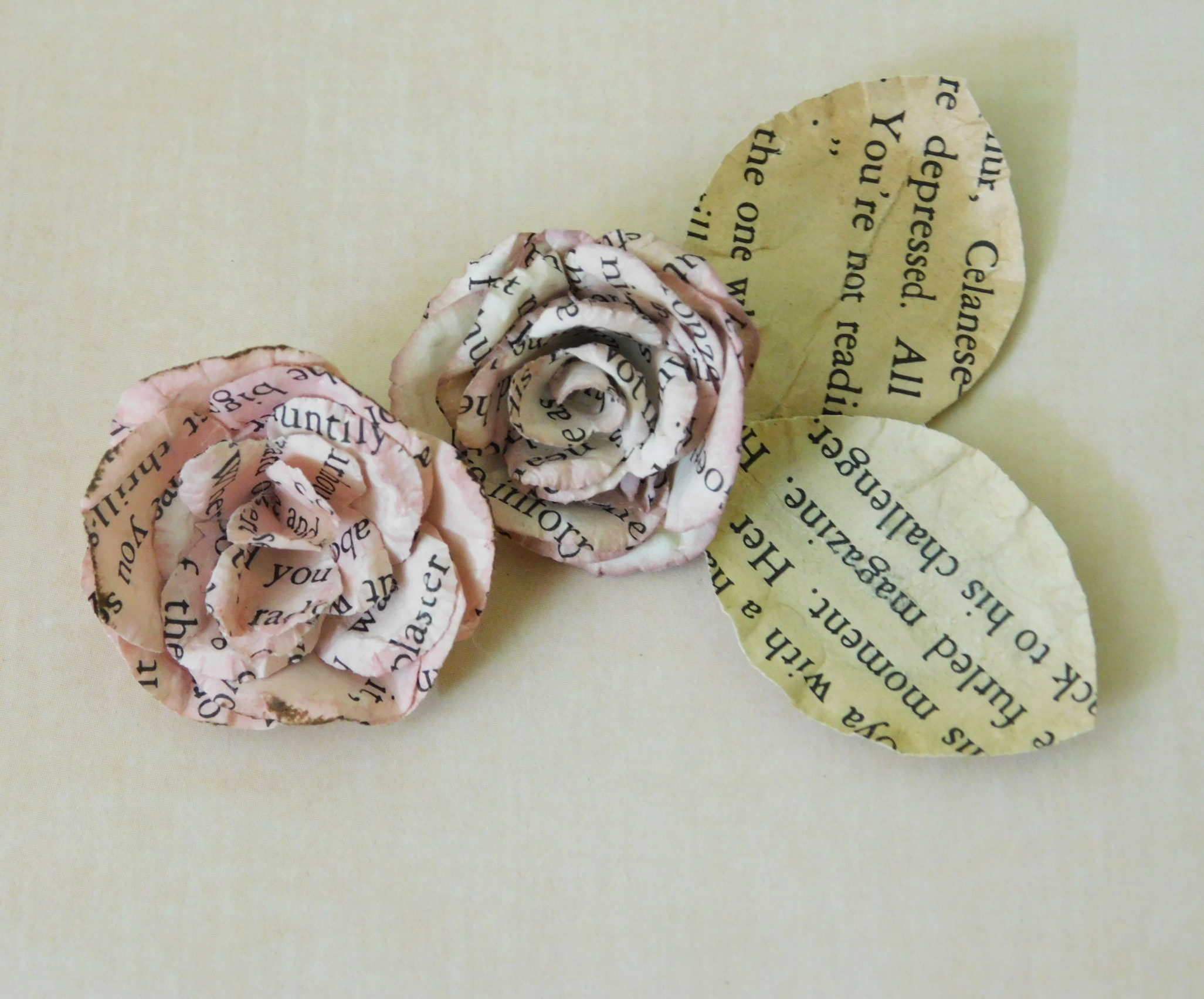 Shaped Paper Roses